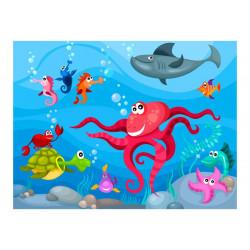 Fototapet - Octopus and shark