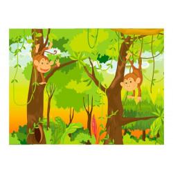 Fototapet - jungle - monkeys