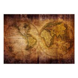 Fototapet - World on old map