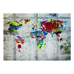 Fototapet - Map - Graffiti