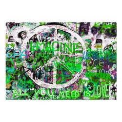 Fototapet - Green Graffiti