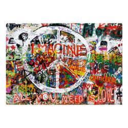 Fototapet - Hippie Graffiti