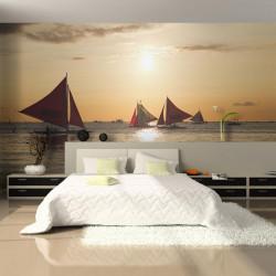 Fototapet - sailing boats -...