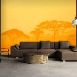Fototapet - Orange savanna