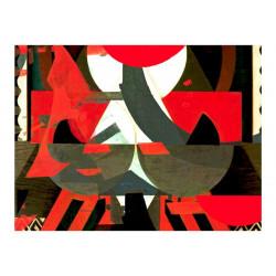 Fototapet - Art præparat i rød