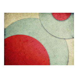 Fototapet - circles - retro...