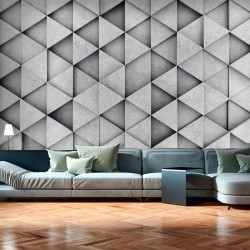 Fototapet - Grey Triangles