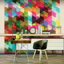 Fototapet - Colourful Geometry