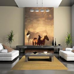 Fototapet - Vilde heste af...
