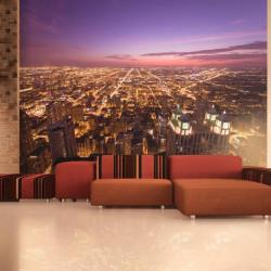 Fototapet - Chicago by night