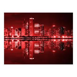 Fototapet - Vin-farvet Chicago