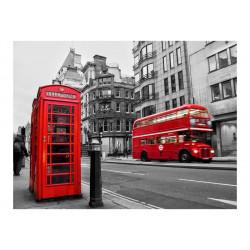 Fototapet - Rød bus og...