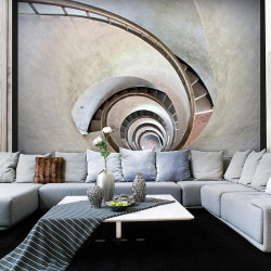 Fototapet - White spiral...