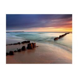 Fototapet - strand - solopgang