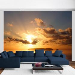 Fototapet - hav - solnedgang