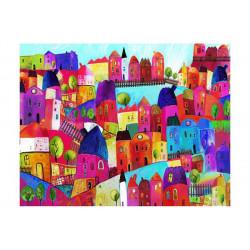 Fototapet - Rainbow-hued town