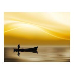 Fototapet - Fishing at sunset