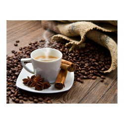 Fototapet - Star anise coffee