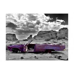 Fototapet - Retro bil på...