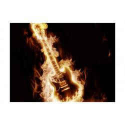 Fototapet - Flaming guitar