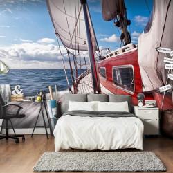 Fototapet - En båd langt...