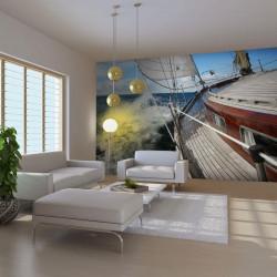 Fototapet - En båd i havet