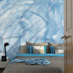 Fototapet - rose (blue)
