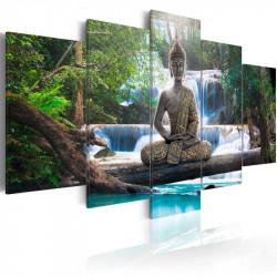Billede - Buddha and waterfall