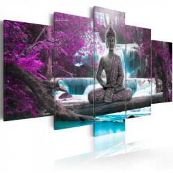 Billede - Waterfall and Buddha