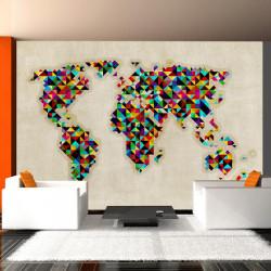 Fototapet - World Map - a...