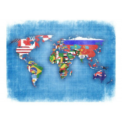 Fototapet - Flags of countries