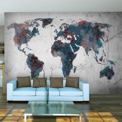 Fototapet - World map on...