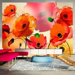 Fototapet - Velvet poppies