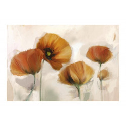 Fototapet - poppies - vintage