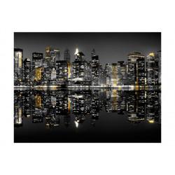 Fototapet - Guld og sølv - NYC