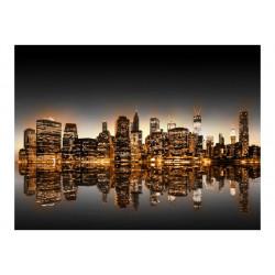 Fototapet - New York and gold