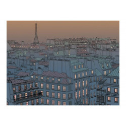 Fototapet - Godaften Paris!
