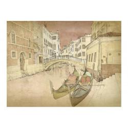 Fototapet - Gondolas in Venice