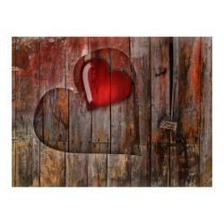 Fototapet - Hjerte på træ...