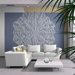 Fototapet - Hvid ornament