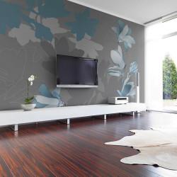 Fototapet - Blå magnolias