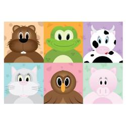 Fototapet - Cheerful animals