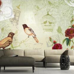 Fototapet - Vintage birds