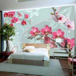 Fototapet - Pink orchids -...