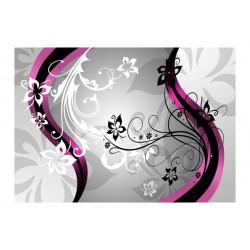 Fototapet - Art-flowers (pink)
