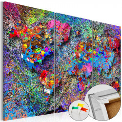 Billede på kork - Colourful...