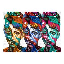 Fototapet - Colorful Faces