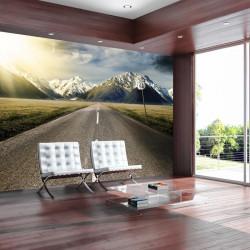 Fototapet - The long road