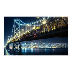 Fototapet - Bay Bridge natten