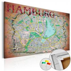 Billede på kork - Hamburg...